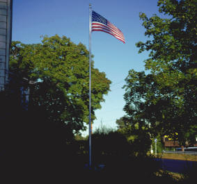 30' Foot Aluminum Sectional Flagpole