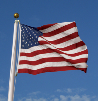 2.5'x 4' US American Nylon Flag